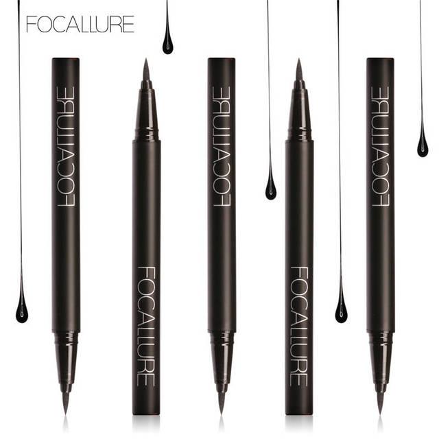 FOCALLURE Liquid Eyeliner waterproof long lasting Black Gel eye liner easy to wear  black eyeliner pen Women Eye Makeup 1