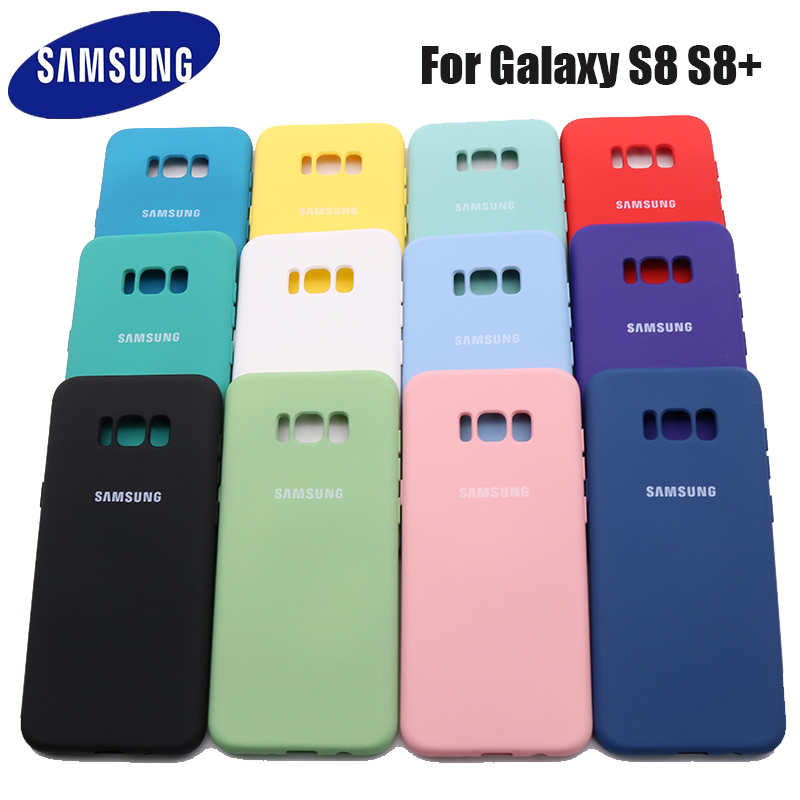 Шелковистый силиконовый чехол для Samsung Galaxy S8/S8 Plus S8, мягкий на ощупь защитный чехол для Samsung S8/S8plus