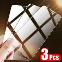Protector de pantalla para iPhone, cubierta completa de vidrio templado para modelos X, XS, 11 Pro, Max, XR, 7, 8 Plus y 7SE, 3 unidades