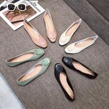 Женская обувь на плоской подошве; Лоферы балерины из искусственной кожи; Осенняя обувь для медсестры; Zapato Mujer; Повседневная обувь на плоской подошве; Однотонные лоферы с круглым носком без застежки; Лоферы с резиновой подошвой