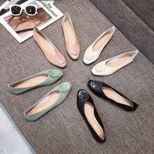 Vrouwen Platte Schoenen Ballerina Loafers Pu Verpleegkundige Herfst Schoen Zapato Mujer Casual Flats Basic Solid Slip On Ronde Neus rubber Loafers