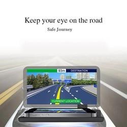 Gorący wyświetlacz Head up GPS samochód z nawigacją uchwyt do deski rozdzielczej uchwyt na telefon komórkowy folia odblaskowa pojazd HUD uchwyt do smartfona do iPho Wyświetlacz projekcyjny    -