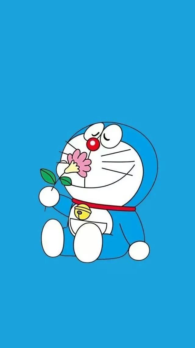 哆啦A梦壁纸:可爱哆啦A梦蓝胖子手机壁纸插图61