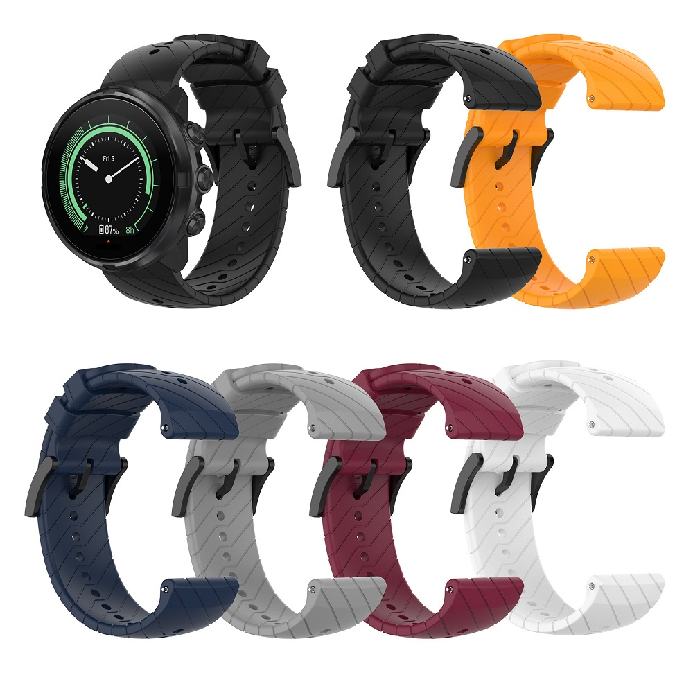 Silicone Twill Strap Replacement Watch Band For Suunto Spartan Sport Wrist Hr Wristband For Suunto9 Suunto9 Baro For Suunto D5