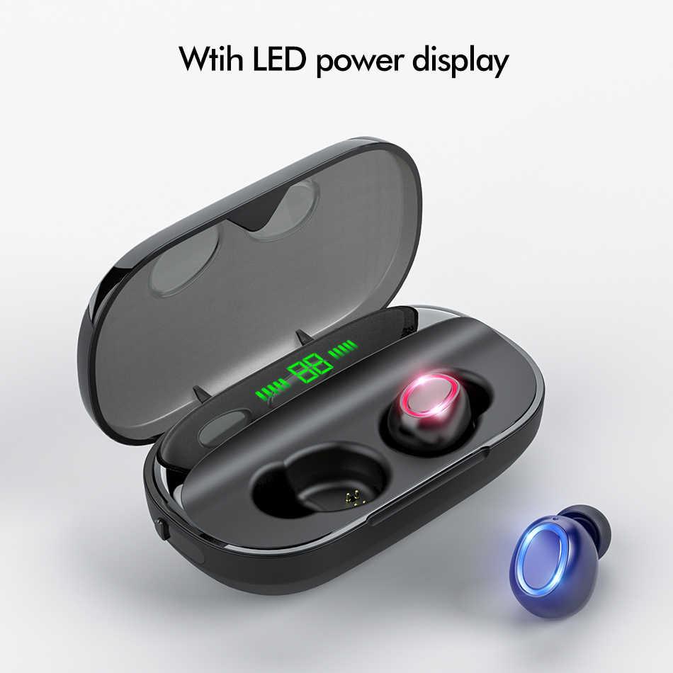 8D TWS Bluetooth 5.0 Bluetooth Điện Ảnh HD Vòm Stereo Loại Bỏ Tiếng Ồn 2000 MAh Công Suất Có Mic Không Dây Tai Nghe