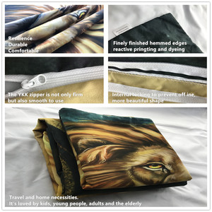 Image 4 - Bedding Set 3D Printed Duvet Cover Bed Set Lion Home Textiles for Adults Lifelike Bedclothes with Pillowcase #SZ02