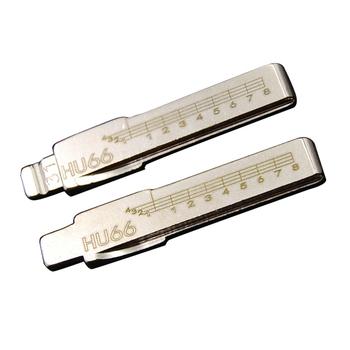 31 # HU66 klucz samochodowy pusty z grawerowaną linią klucz skala strzyżenie zęby ostrze uniwersalny składany odwróć klucz nóż tanie i dobre opinie metal