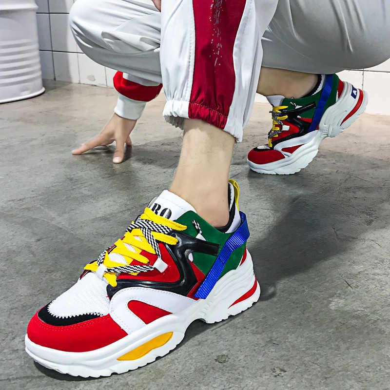 אופנתי נשים נעליים יומיומיות אוהבי עור אבא פלטפורמת שמנמן סניקרס Harajuku שטוח עבה בלעדי Tenis טריז לבן סל הליכה