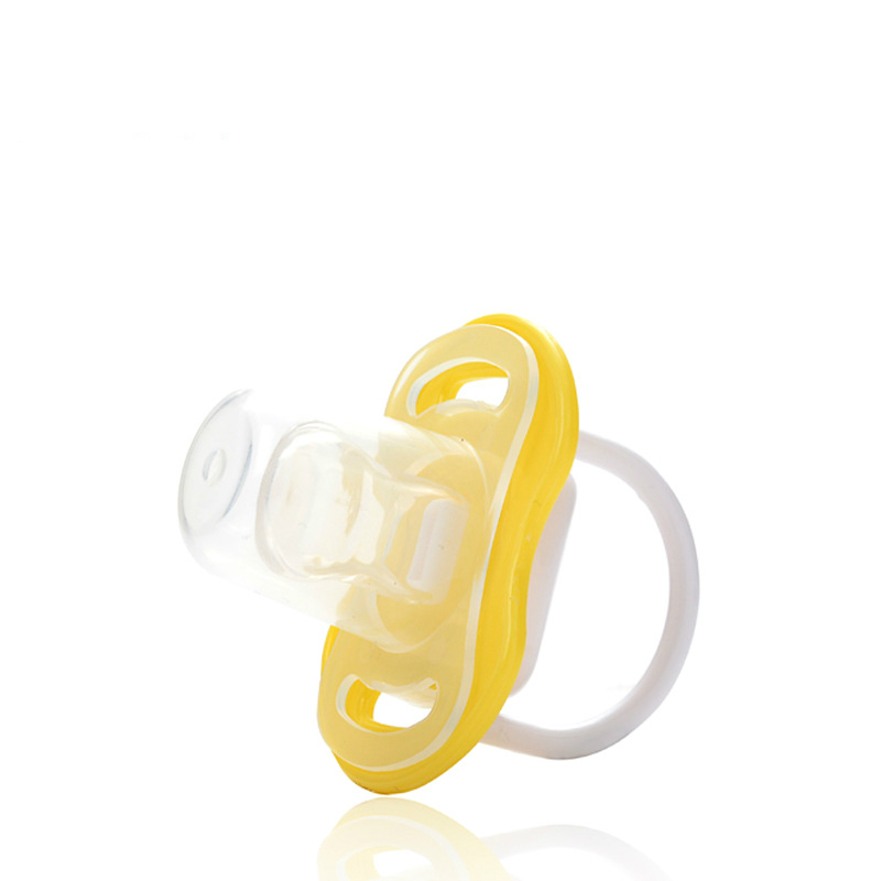 2 Style 3 Color Baby Silicone Pacifier Baby Sleeping Comfort Pacifier Silicone Pacifier Baby Food Grade PP Teether Pacifier