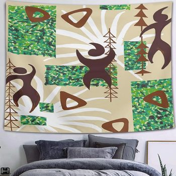 Simsant Mushroom Forest Castle Tapestry Fairytale Trippy Colorful Butterfly Wall Hanging Tapestry for Home Dorm Fantasy Decor 27