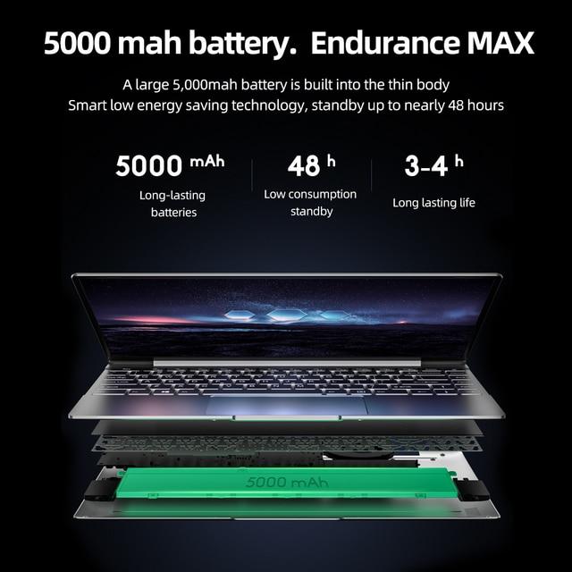 Dere V14S 14.1inch Laptop Intel Celeron N5095 DDR4 12GB RAM 256GB SSD Backlit Keyboard Windows 10 1920x1080 Computer PC Notebook 5