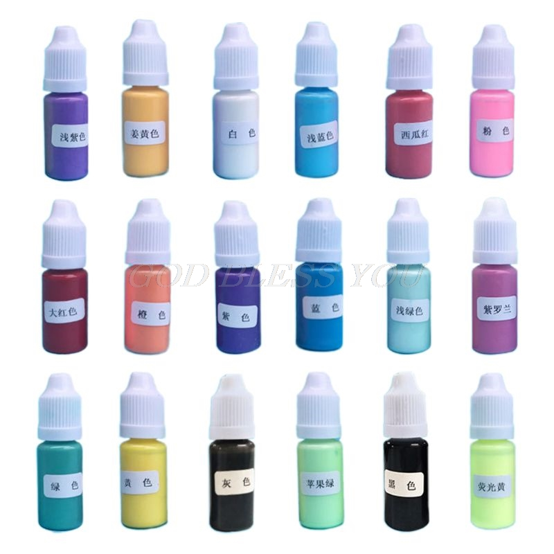 18 Pcs/Set DIY Crystal Epoxy Pigment Handmade Macaron Color Oily Colorant Pigment