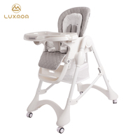 Luxmom chair feeding chair folding highchair with wheels free shipping