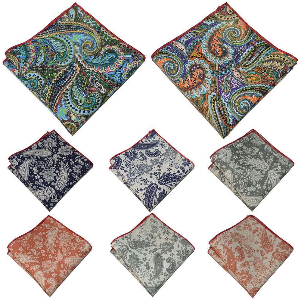 Men's Handkerchief Paisley Floral Pattern Hanky Party Business Pocket Square YXTIE0321