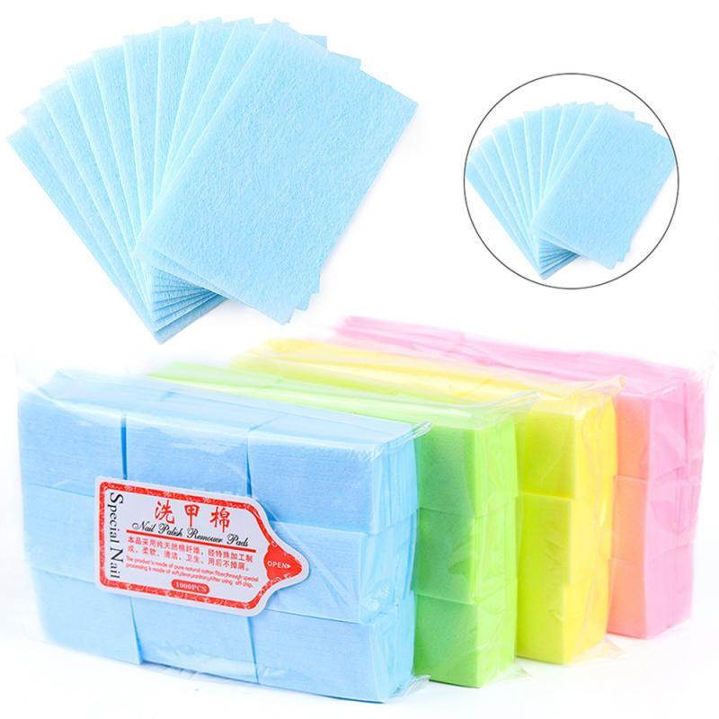 1000 Pcs Disposable Cotton Nail Polish Unloading Remover Towel Nail Supplies Nail Art Manicure Tool Nail Care Tool TSLM1