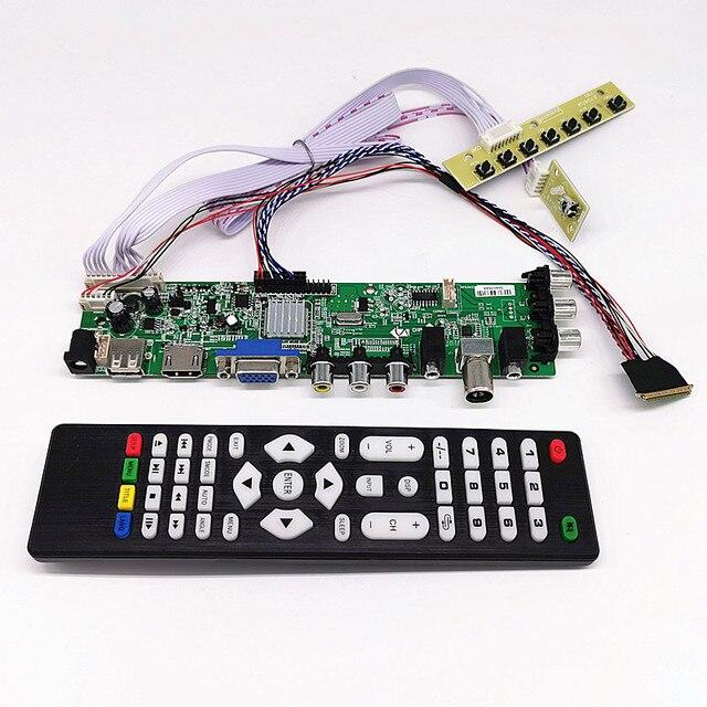 """DVB T2/dvb t/DVB C LCD سائق التلفزيون الرقمي تحكم مجلس عدة ل 15.6 """"40 دبابيس LCD B156XW02/LP156WH2/LP156WHB/LP156WH4 1366*768"""