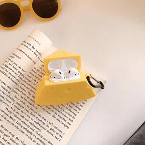 Image 5 - Cartoon Cheese, with Finger Ring Strap For AirPods Case Bluetooth Wireless Earphone Case For Apple Airpods Charging Box Cover