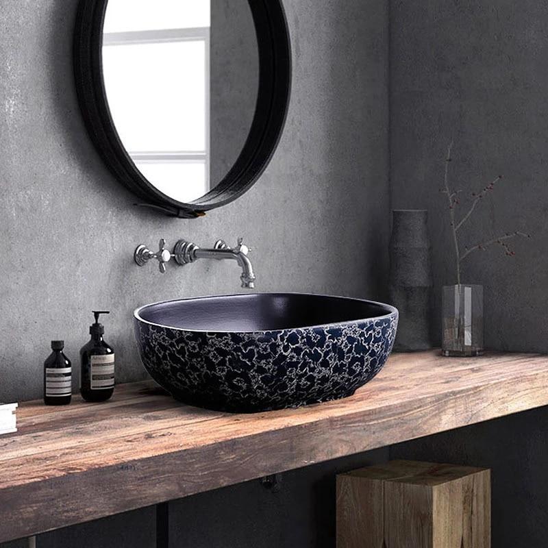 oval porcelain bathroom vanity bathroom sink bowl countertop rectangular ceramic wash basin bathroom sink