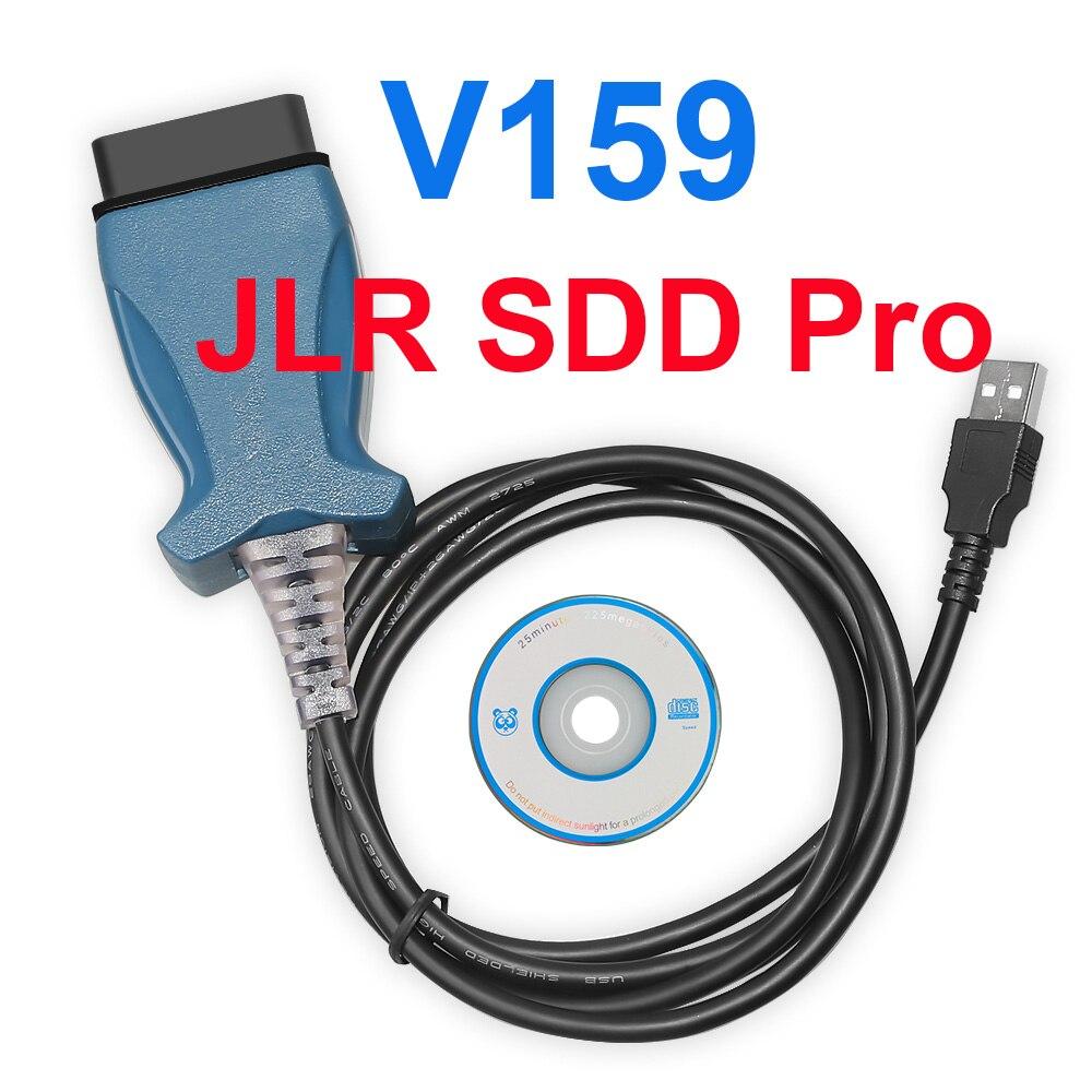 V159 JLR SDD Pro For Jaguar For Land Rover Supports PWM CAN K L Line Protocol Till 2017 Multi-languages Better Than JLRV158 V157
