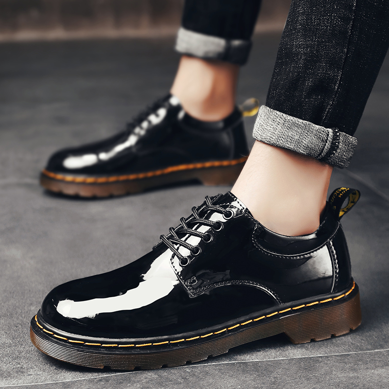 2020 Spring New Genuine Leather Men's Casual Leather Shoes High Quality Men Anti-Slip Big Head Leather Shoes Men Driving Shoes