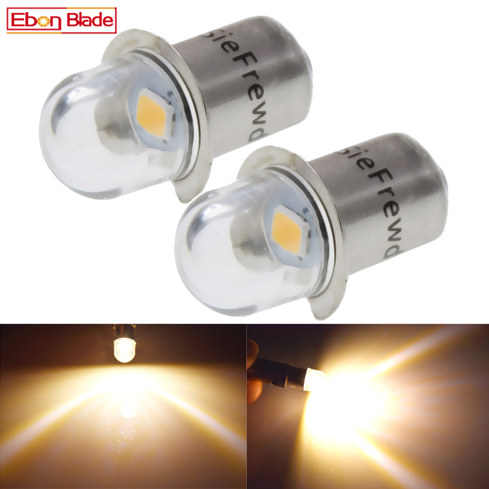 Pair P13.5S PR2 PR3 LED Lights Bulb DC 3V 6V 1SMD LED Warm White For Flashlight Replacement Bulb Torches Work Light Lamp 100LM