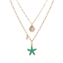 22 Style Boho Sea Star Shell Pearl Necklaces Pendants For Women Multi Layered Jewelry цена 2017