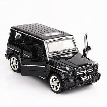Modelo de simulación de alta calidad 1:24 para Mercedes-Benz G65, coche en miniatura de aleación 2, puerta abierta con sonido y luz, coche de juguete trasero de Metal