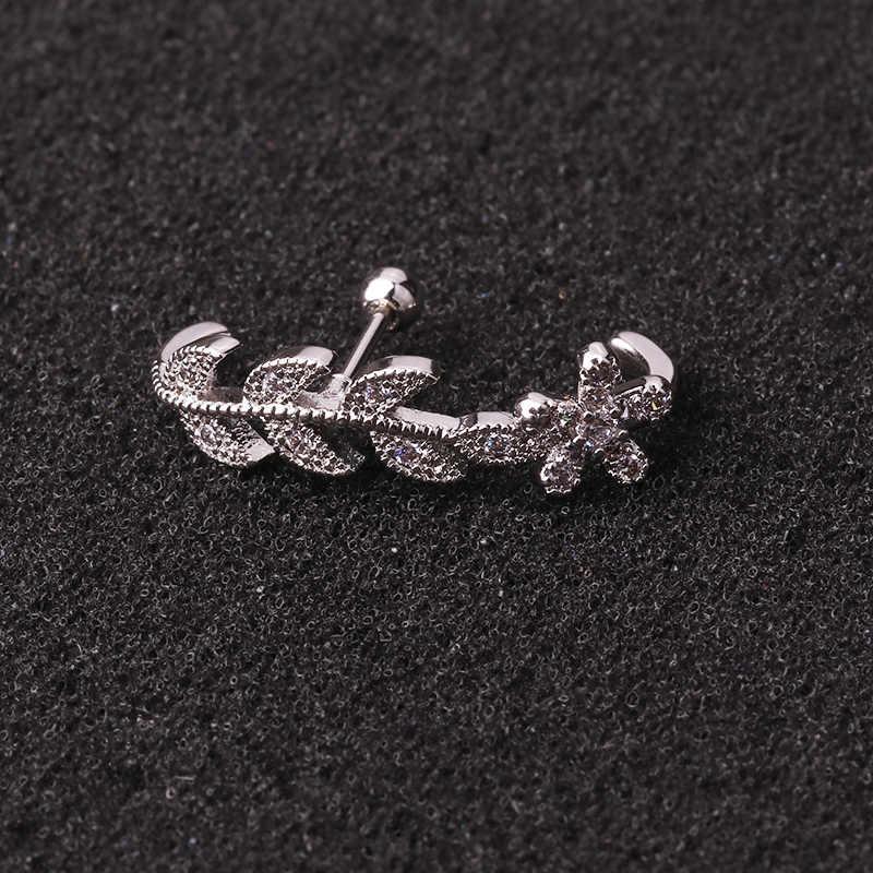 Sellsets 1 חתיכה אופנה CZ אוזן קאף stud daith tragus העורב פירסינג תכשיטי ארוך בר חודים הגדרת אונה עגיל עבור נשים