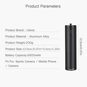 Image 5 - Ulanzi BG 2 6800 mAh Camera Power Bank Hand Grip Rechargeable Battery For Gopro Hero 8/7/6/5 Osmo Pocket OSMO Action Insta360