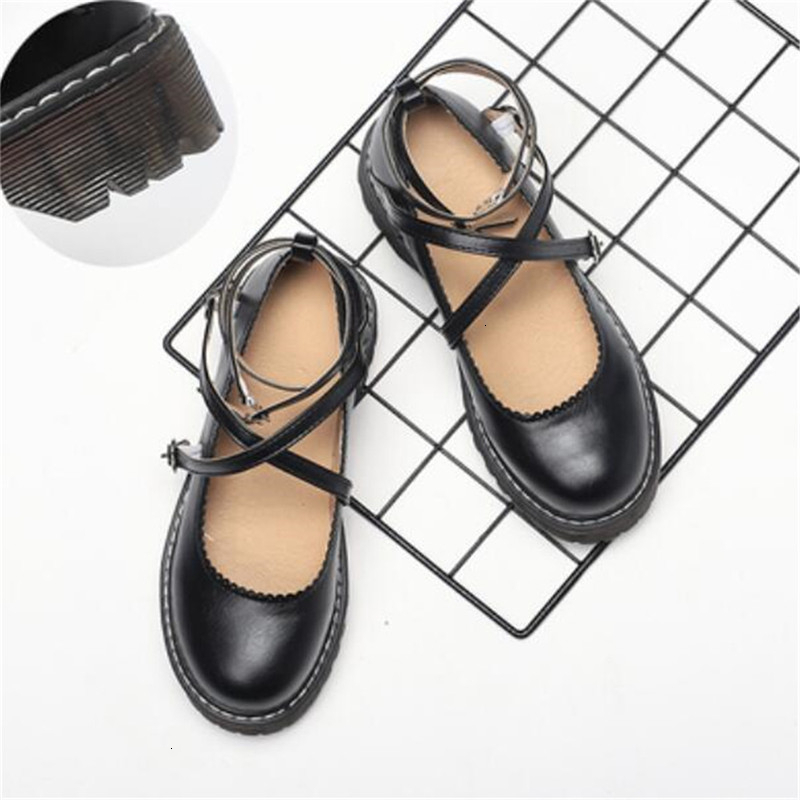 <font><b>LOLITA</b></font> <font><b>Shoes</b></font> JK Uniform <font><b>Shoes</b></font> PU Leather <font><b>Lolita</b></font> Dress Cosplay <font><b>Shoes</b></font> B389 image