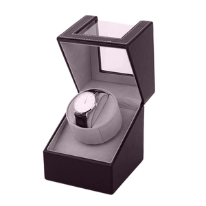Image 3 - אחסון ארגונית ארון תצוגת מנוע שייקר מחזיק אוטומטי מכאני שעון המותח תיבת מתפתל מקרה בעל צבע חום