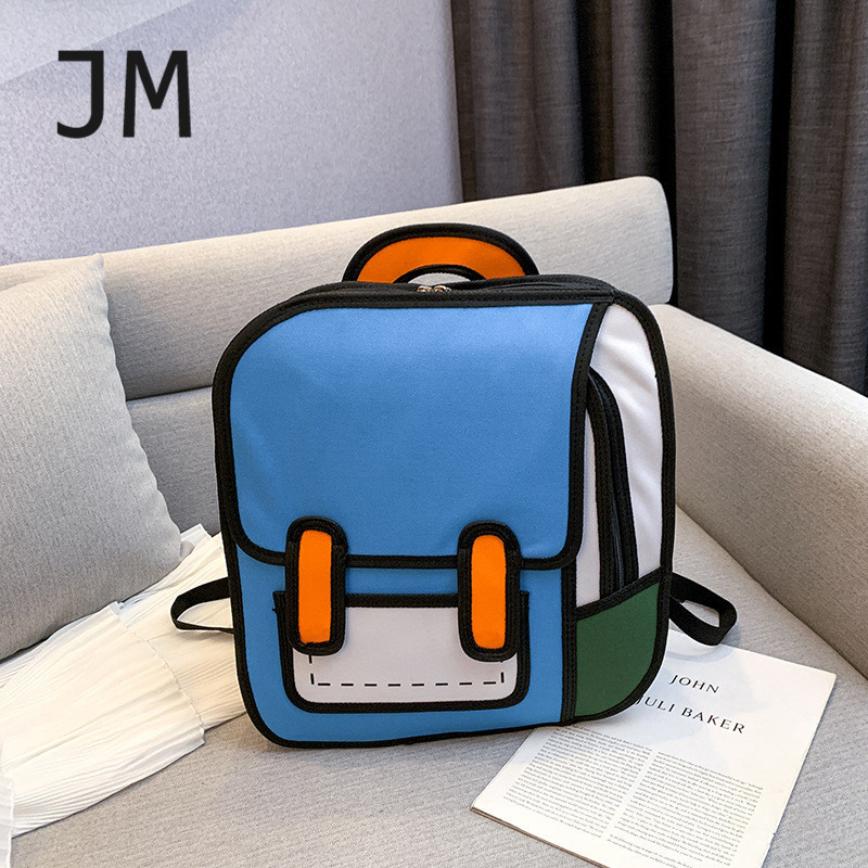 Fashion Luxury Designer Women Backpack Teenager Creative 2D Drawing Backpack 3D Stereo Comic Bags For Girls Cute Student Bags