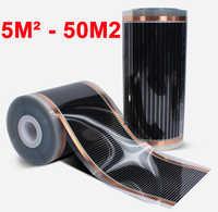 5m2-50m2 Teppich Decke Wand oder Unter Boden Fernen Infrarot Elektrische Heizung Film AC220V 50cm Breite 220 W/ m2 Niedrigen Verbrauch
