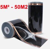 Parede do teto do tapete 5m2 50m2 ou sob o filme de aquecimento elétrico infravermelho distante ac220v 50cm largura 220 w/m2 baixo consumo|Aquecedores elétricos| |  -