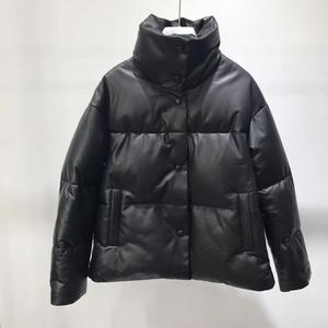Image 3 - 本革ジャケット女性ホワイトダックダウンジャケットコート2020冬厚く暖かいコートとジャケット女性プラスサイズ
