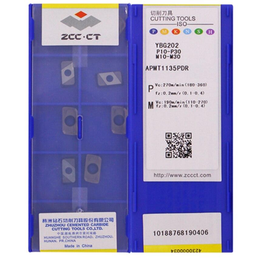 ZCC.CT APMT1135PDR YBG102/APMT1135PDR YBG202/APMT1135PDR YBG205/APMT1135PDR YBG212/APMT1135PDR YBG302 carbide inserts 10PCS/BOX