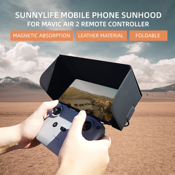 Sun Hood Shade Tablet Phone Sunshade Foldable Leather Phone Cover for DJI Mavic Air 2 Remote Controller Accessories