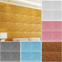 3D Wall Panel Stickers Living Room 3D Brick Wallpaper for Kids Room Bedroom Home