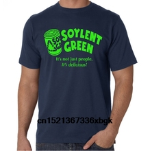 Soylent Green It Delicious Cult Classic Retro Sci-Fi Geek Movie Blue T-Shirt  100% Man Tee Tops Tm Shirt