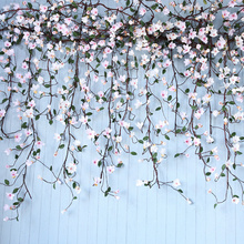 CHENCHENG 1 5 M sztuczne sztuczne kwiaty róża sztuczne jedwabne kwiaty magnolii dekoracje ślubne domu ściany wiszące kwiat bzu tanie tanio 1311 Kwiat Ciąg Orchidea Jedwabiu Ślub