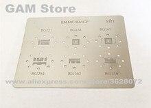 BGA221 153 169 254 162 186 BGA Schablone eMMC EMCP Reballing IC Chip Pins Solder BGA Zinn Anlage Net Direkt heizung Vorlage G1139