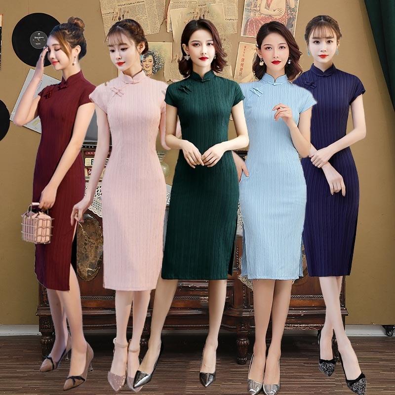 Women's Oriental Style Dresses Qipao New Handmade Button Cheongsam Ancient Traditional Chinese Dress