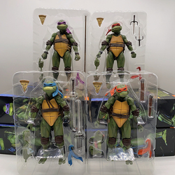 NECA Figure Neca Shredder Krang Turtle Figuras Master Rat 1990 Movable Leonardo Raphael Michelangelo Donatello Action Figure Toy