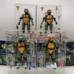 NECA Figure Neca Shredder Krang Turtle Figures Master Rat, подвижная фигурка лерандо Рафаэля микеланжело Донателло, игрушка-фигурка