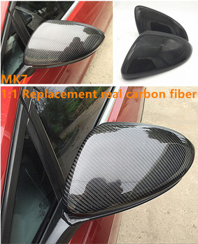 Carbon Fiber For VW Golf 7 MK7 R GTI VII 2013 2014 2015 2016 2017 Car Side Rear View Rearview Back Mirror Cover Replacement
