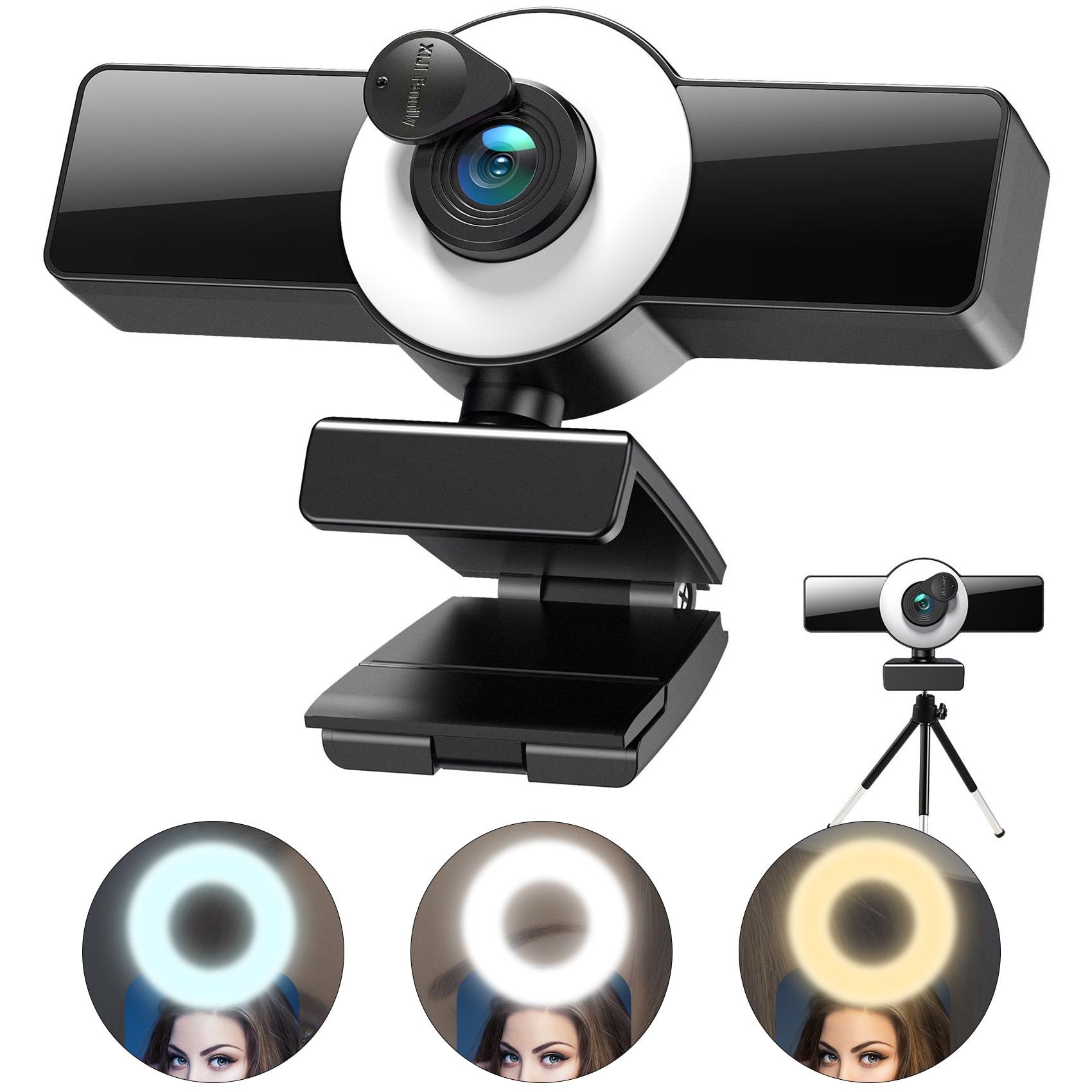 4K камера 2K Full HD веб-Камера для компьютера, ноутбука, USB веб-камера С микрофоном Autofocu веб-Камера для Youtube Live Broadcast
