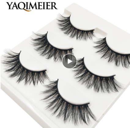 100 packs false eyelashes wholesale bulk 3 pairs / pack 3d eyelashes make up natural Lashes