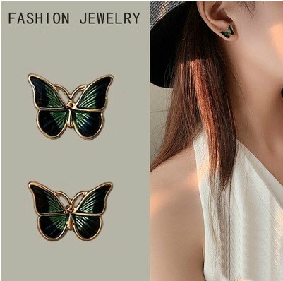 Aliexpress Hot New Products South Korea Sweet Butterfly Small Fresh Super Fairy Sen Small Female Temperament Earrings Wholesale