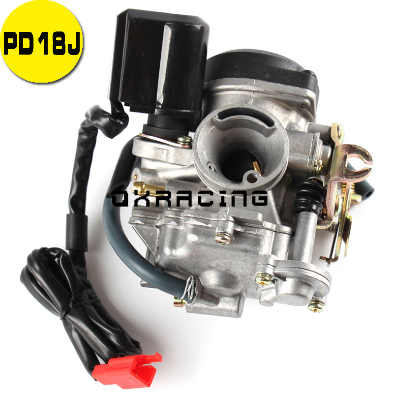18mm PD18J Carb <font><b>Carburetor</b></font> For <font><b>GY6</b></font> <font><b>50CC</b></font> 139QMB 139QMA Scooter Jonway <font><b>50cc</b></font> Stock image