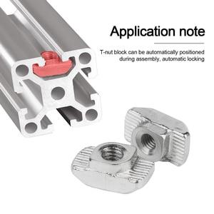 Image 2 - 96pcs M3 M4 M5 M6 M8 T Slot Nut Hammer Head Sliding T Nut Fasteners Drop In T nut Set for 2020 3030 4040 Series Aluminum Profile